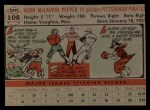 1956 Topps #108  Laurin Pepper  Back Thumbnail