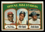 1972 Topps #87  NL RBI Leaders    -  Hank Aaron / Willie Stargell / Joe Torre Front Thumbnail
