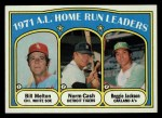 1972 Topps #90  1971 AL Home Run Leaders    -  Norm Cash / Reggie Jackson / Bill Melton Front Thumbnail