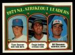 1972 Topps #95  1971 NL Strikeout Leaders    -  Fergie Jenkins / Tom Seaver / Bil Stoneman Front Thumbnail