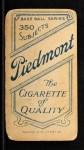 1909 T206 #432  Jim Scott  Back Thumbnail