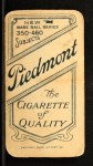 1909 T206 #53 CAP Al Bridwell  Back Thumbnail