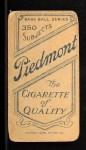 1909 T206 #364 NY Bill O'Hara  Back Thumbnail