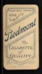 1909 T206 #483  Ira Thomas  Back Thumbnail