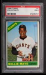 1966 Topps #1  Willie Mays  Front Thumbnail