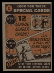 1972 Topps #52  In Action  -  Harmon Killebrew Back Thumbnail