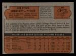 1972 Topps #68   Jim York Back Thumbnail