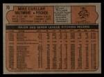 1972 Topps #70   Mike Cuellar Back Thumbnail