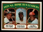1972 Topps #89  NL HR Leaders    -  Hank Aaron / Lee May / WIllie Stargell Front Thumbnail