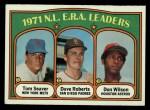 1972 Topps #91  NL ERA Leaders    -  Dave Roberts / Tom Seaver / Don Wilson Front Thumbnail