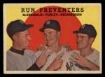 1959 Topps #237  Run Preventers  -  Gil McDougald / Bob Turley / Bobby Richardson Front Thumbnail
