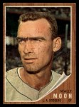 1962 Topps #190 xCAP Wally Moon   Front Thumbnail