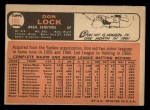 1966 Topps #165   Don Lock Back Thumbnail