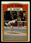 1972 Topps #174  In Action  -  Clay Kirby Front Thumbnail