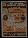 1972 Topps #180  In Action  -  Dock Ellis Back Thumbnail