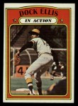 1972 Topps #180  In Action  -  Dock Ellis Front Thumbnail