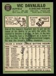 1967 Topps #69   Vic Davalillo Back Thumbnail