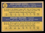 1970 Topps #401  Giants Rookie Stars  -  John Harrell / Bernie Williams Back Thumbnail