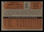1972 Topps #238   Leron Lee Back Thumbnail