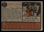 1962 Topps #274  Sammy Taylor  Back Thumbnail