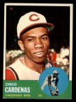 1963 Topps #203   Leo 'Chico' Cardenas Front Thumbnail