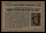 1972 Topps #430  In Action  -  Bob Robertson Back Thumbnail