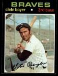1971 Topps #374   Clete Boyer Front Thumbnail