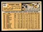 1963 Topps #435   Woodie Held Back Thumbnail