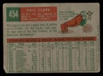 1959 Topps #454  Phil Clark  Back Thumbnail