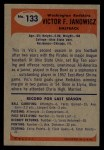 1955 Bowman #133  Vic Janowicz  Back Thumbnail