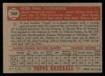 1952 Topps #260  Pete Castiglione  Back Thumbnail