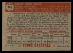 1952 Topps #296  Red Rolfe  Back Thumbnail