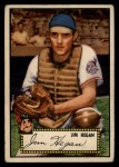 1952 Topps #17 RED Jim Hegan  Front Thumbnail