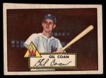 1952 Topps #291   Gil Coan Front Thumbnail