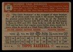 1952 Topps #22 RED  Dom DiMaggio Back Thumbnail