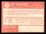 1964 Topps #247  Dave DeBusschere  Back Thumbnail