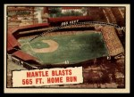 1961 Topps #406   -  Mickey Mantle Mantle Blasts 565 FT. Home Run Front Thumbnail
