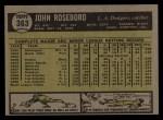 1961 Topps #363   John Roseboro Back Thumbnail