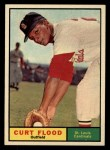 1961 Topps #438  Curt Flood  Front Thumbnail