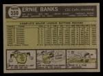 1961 Topps #350   Ernie Banks Back Thumbnail