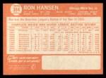 1964 Topps #384  Ron Hansen  Back Thumbnail