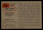1954 Bowman #128   John Lattner Back Thumbnail