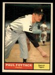 1961 Topps #171   Paul Foytack Front Thumbnail