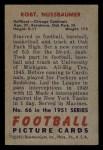 1951 Bowman #66  Robert Nussbaumer  Back Thumbnail