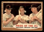 1962 Topps #127 GRN  -  Norm Siebern / Hank Bauer / Jerry Lumpe Pride of the A's Front Thumbnail