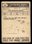 1959 #55  Raymond Berry  Back Thumbnail