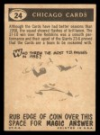 1959 Topps #24  Cardinals Team Checklist  Back Thumbnail