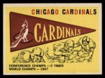 1959 Topps #24  Cardinals Team Checklist  Front Thumbnail