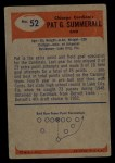 1955 Bowman #52   Pat Summerall Back Thumbnail