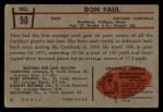 1953 Bowman #90   Don Paul Back Thumbnail